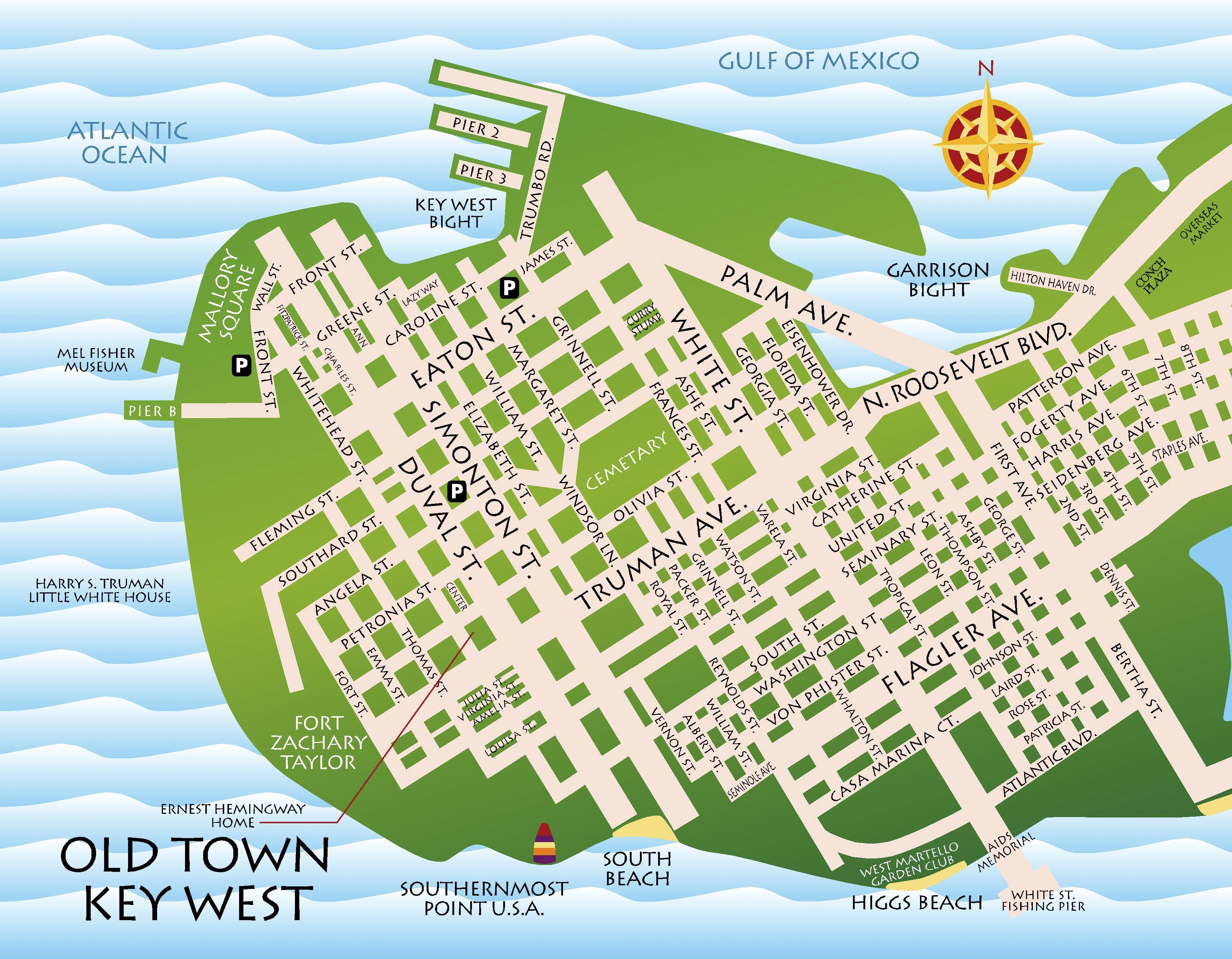 Maps key west florida keys best key west restaurant menus old town key west map gumiabroncs Image collections