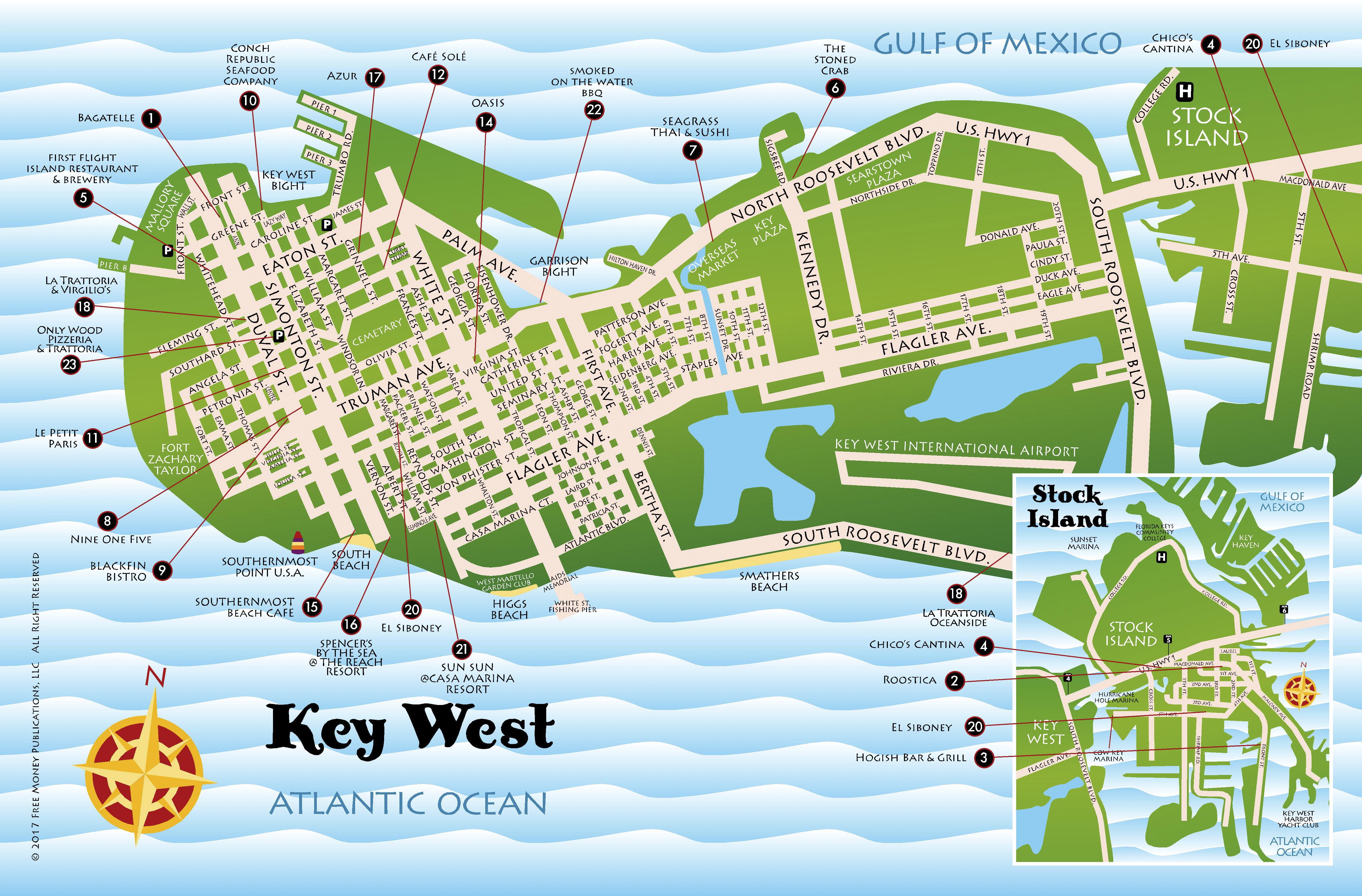 Maps key west florida keys best key west restaurant menus key maps key west florida keys gumiabroncs Images
