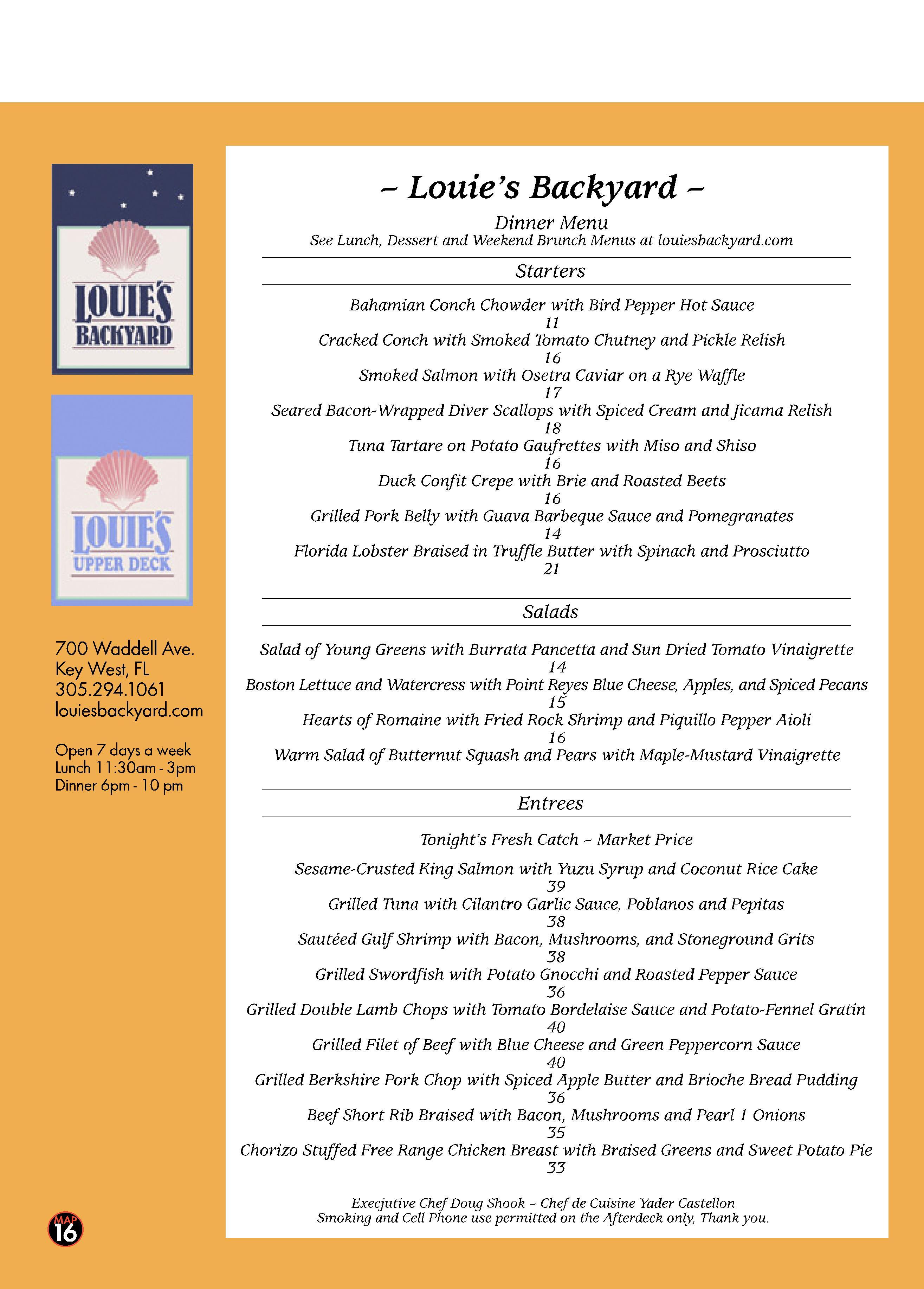 backyard restaurant menu key west best key west restaurant menus